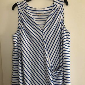 Modcloth Blue Striped Wrap Tank